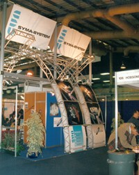 cdu exhibition design and stand building. sole uk supplier of syma system components
